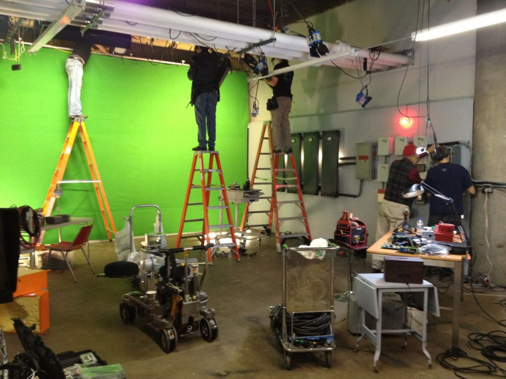 Prelighting and Dressing the Lab Set