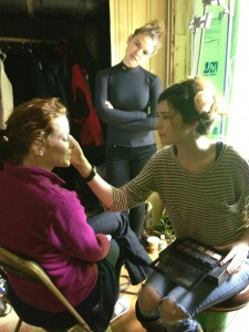 Dawn, Emily, and Hair/Makeup Artist Miki Sautbine