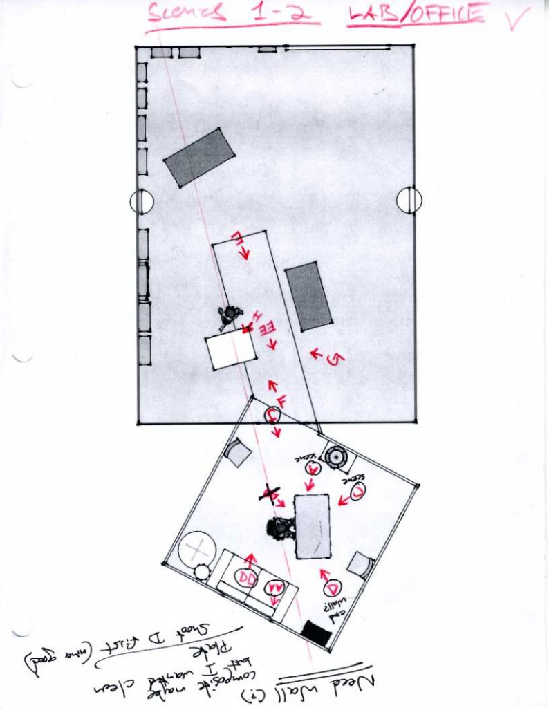 Shooting Diagram for the First Abduction Scene