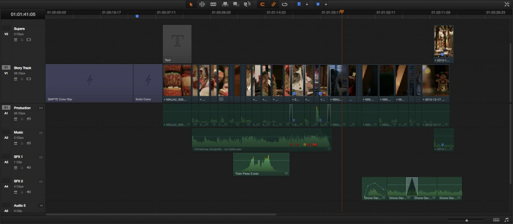 The Editing Timeline in Resolve 11