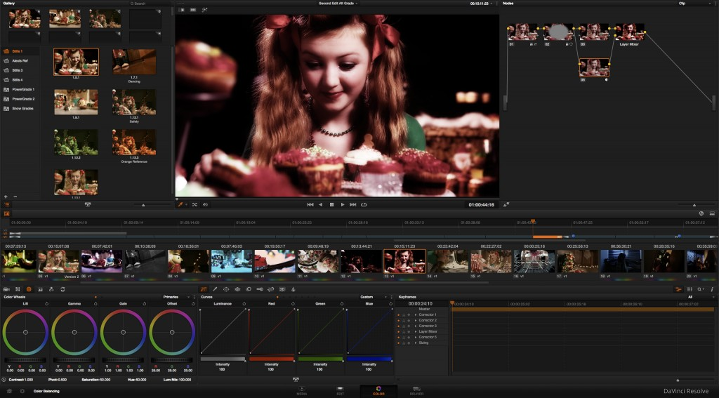 Resolve 11 Grading at the Press of a Button