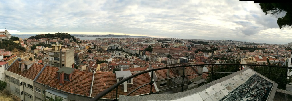 On a hill overlooking Lisbon, Portugal