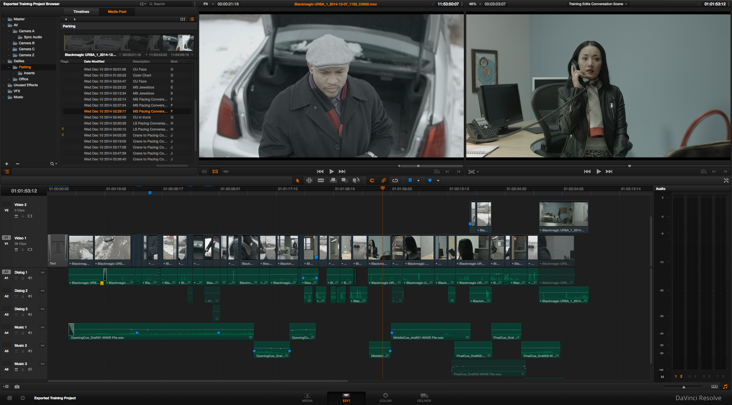 Editing in DaVinci Resolve