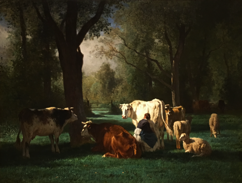 Constant Troyon's Landscape with Cattle and Sheep, c. 1852-58