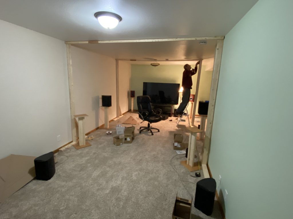 Setting up the temporary speaker layout