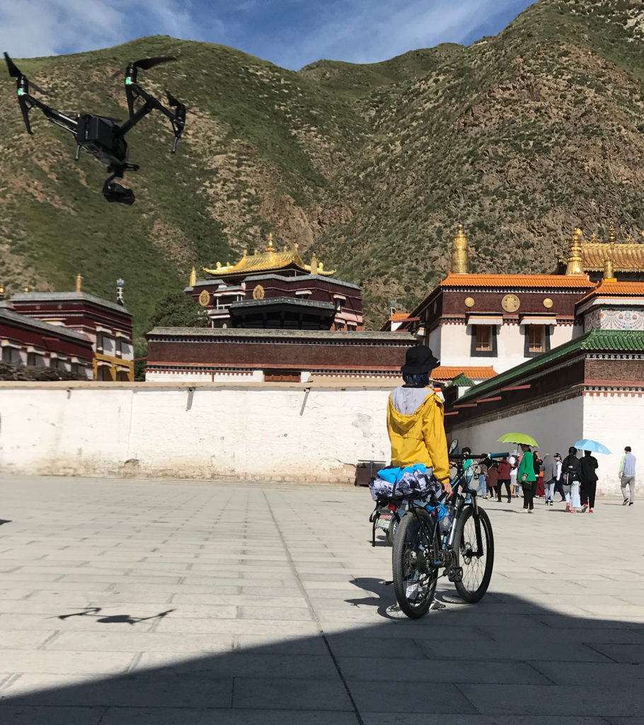 Drone shooting at Labrang Monastery
