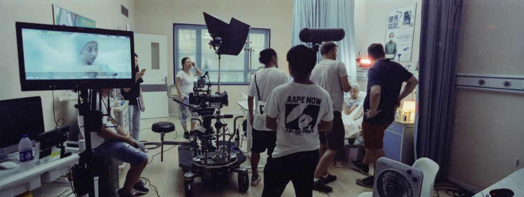 Behind the scenes on the Hospital set, Photo: Eoin McGuigan