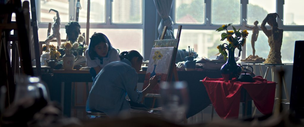 Art room scene from Carry My Heart to the Yellow River