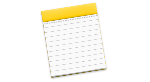The macOS Notes Icon