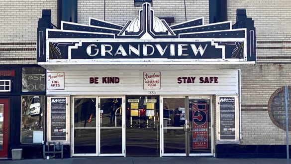 Theater marquis saying Be Kind and Stay Safe